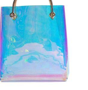 Handbags - Hologram clear tote